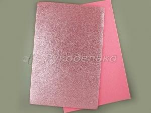 Фетр с блестками 2мм. Розовый. 20х30см.