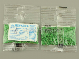 Бисер японский TOHO. 15/0. Зеленый (47D). Непрозрачный. 5гр.