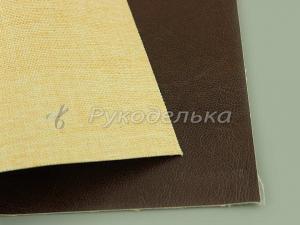 Кожзаменитель декоративный 22х16,5см. Темно-коричневый