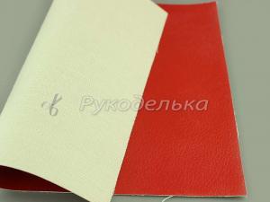 Кожзаменитель декоративный 22х16,5см. Красный.