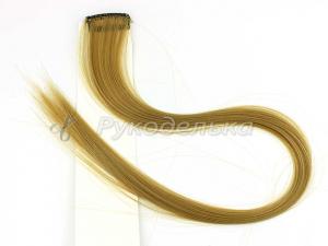 Прядь волос на заколке. 50см. Русый