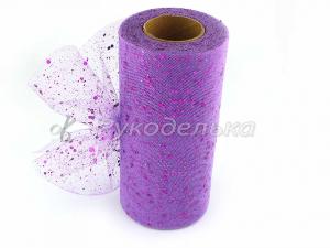 Фатин с пайетками 15см. Фиолетовый