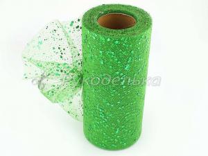 Фатин с пайетками 15см. Зеленый