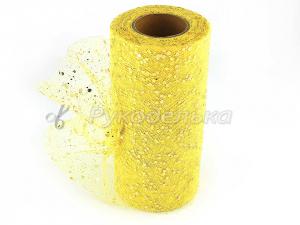 Фатин с пайетками 15см. Желтый