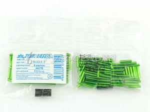Бисер японский TOHO. Стеклярус 9мм. Зеленый (27B). Прозрачный с посеребренным отверстием. 5гр