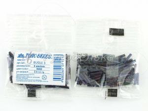 Бисер японский TOHO. Стеклярус 9мм. Темно-синий (82). Металлик. 5гр