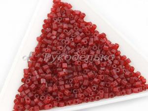 Бисер чешский Preciosa. Рубка. Темно-красный матовый (90090) NT. 10гр