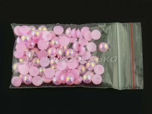 Полубусины радужные 6мм. 5 гр. Розовый