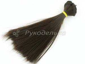 Волосы для кукол прямые. №6. 15смх100см.