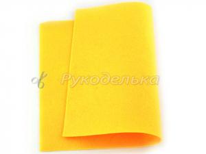 Фетр мягкий  1мм. Желтый. 20х30см.