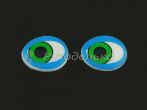 Глазки овальные. Синие. 25х21мм.