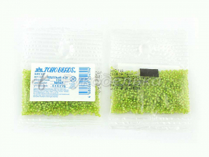 Бисер японский TOHO. 15/0. Зеленый (945). Прозрачный с окрашенным отверстием.5гр.
