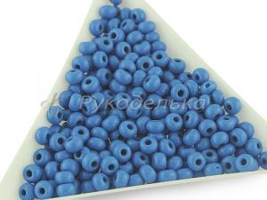 Бисер чешский Preciosa 6/0. Синий (63080) NO. 10гр.