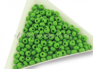 Бисер чешский Preciosa 6/0. Зеленый (53230) NO. 10гр.