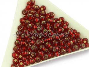 Бисер чешский Preciosa 6/0. Красный (97090) TSL. 10гр