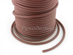 Шнур каучуковый полый для бижутерии 3х1,5мм. Темно-коричневый. 10см.