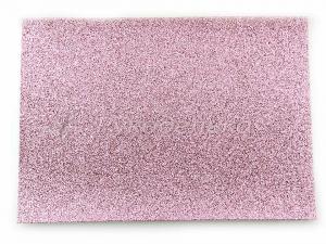 Кожзам с глиттером 21х15см. Розовый.