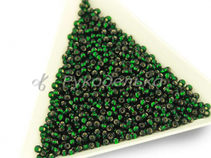 Бисер чешский Preciosa 10/0. Зеленый (57150) TSL. 10гр