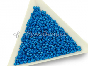 Бисер чешский Preciosa 10/0. Голубой (17165) DA. 10гр